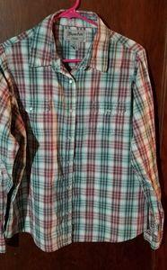 Wrancher western shirt by wrangler women's size xl